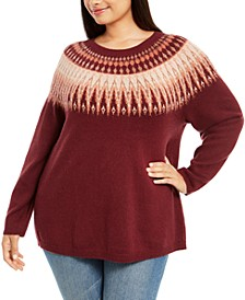 Plus Size Fair Isle Sweater, Created For Macy's