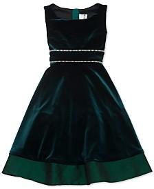 Rare Editions Big Girls Plus Size Embellished Velvet Dress