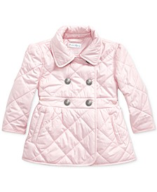 Baby Girls Plain Weave Quilted Jacket