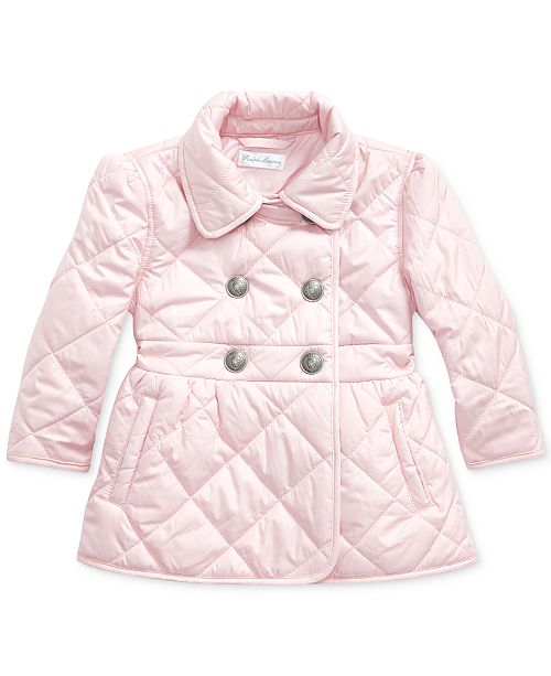 Polo Ralph Lauren Baby Girls Plain Weave Quilted Jacket