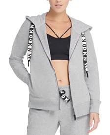 DKNY Sport Logo Fleece Zip Hoodie