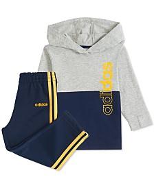 adidas Baby Boys Colorblocked Hoodie & Pants Set