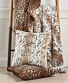 Animal Print Decorative Pillow and Throw Collection, Created For Macy's