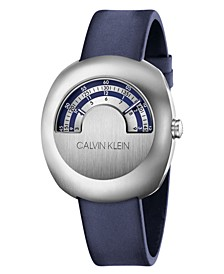 Unisex Glimpse Blue Leather Strap Watch 42mm