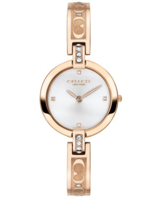 코치 여성 손목 시계 COACH Womens Park Carnation Gold-Tone Stainless Steel Bracelet Watch 26mm