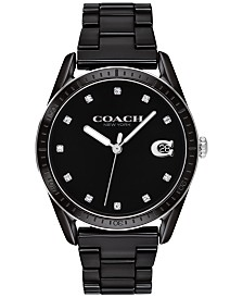 COACH Women's Preston Black Ceramic Bracelet Watch 36mm