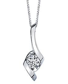 Sirena Diamond (1/5 ct. t.w.) Pendant  in 14k White, Yellow or Rose Gold