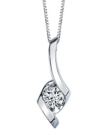Sirena Diamond (1/5 ct. t.w.) Pendant  in 14k White, Yellow or Rose Gold