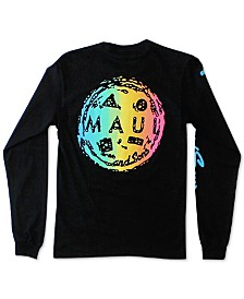 Maui and Sons Men's Rainbow Cookie Logo Graphic T-Shirt