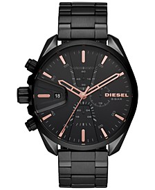 Men's Chronograph MS9 Black Stainless Steel Bracelet Watch 48mm