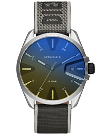 Diesel Men's MS9 Gray Nylon Strap Watch 43mm