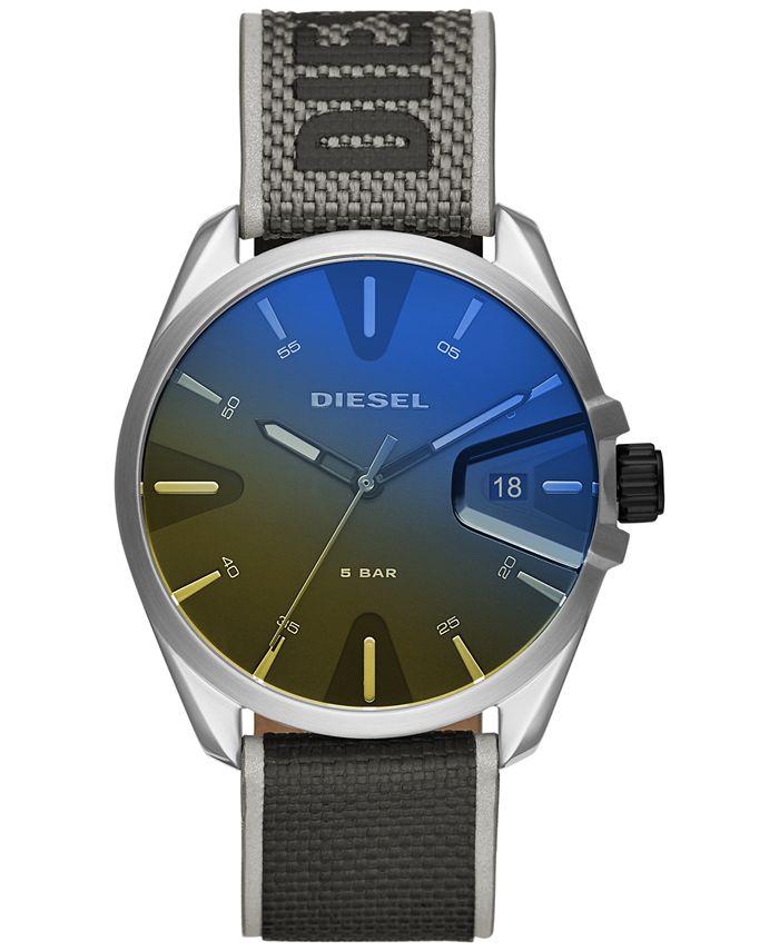 Diesel - Men's MS9 Gray Nylon Strap Watch 43mm