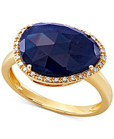 Sapphire (5-5/8 ct. t.w.) & Diamond (1/10 ct. t.w.) Statement Ring in 14K Gold