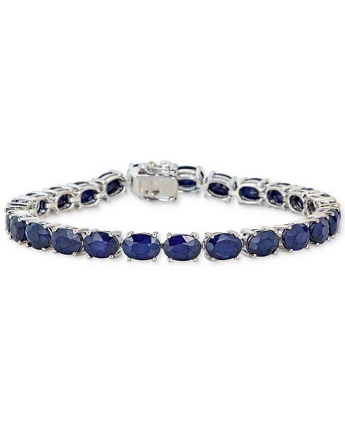 Macy's Sapphire Tennis Bracelet (25 ct. t.w.) in Sterling Silver