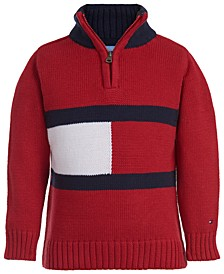 Baby Boys Cotton Flag 1/4-Zip Sweater