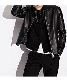 A|X Armani Exchange Faux-Leather Moto Jacket