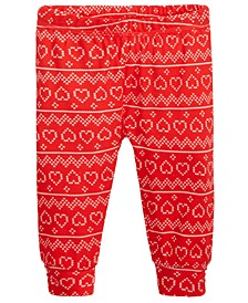 Baby Girls Fair Isle-Print Cotton Jogger Pants, Created For Macy's