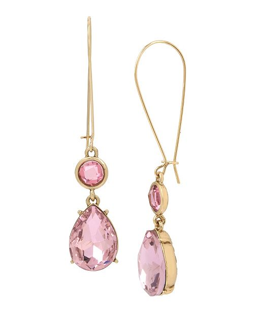 MIRIAM HASKELL Stone Double Drop Earrings