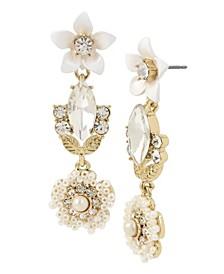 Flower Cluster Drop Earrings