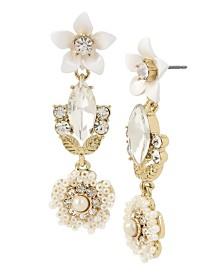 Miriam Haskell Flower Cluster Drop Earrings