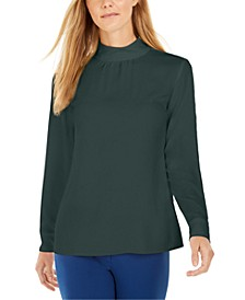 Mock-Neck Long-Sleeve Top