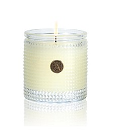 Orange & Evergreen Textured Candle