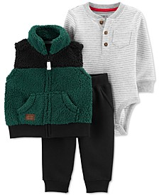 Baby Boys 3-Pc. Vest Set