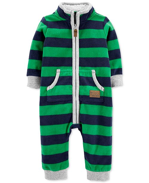 Carter's Baby Boys Fleece-Lined Striped Jumpsuit