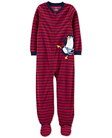 Little & Big Boys Footed Fleece Penguin Pajamas