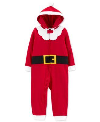 Toddler Boys 1-Pc. Santa Suit Dress Up Pajamas