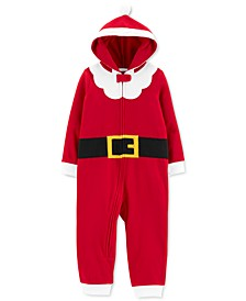 Toddler Boys 1-Pc. Santa Suit Dress Up Pajamas