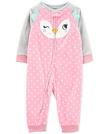 Baby Girls Fleece Owl Pajamas