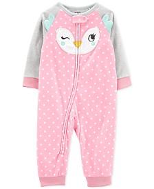 Carter's Baby Girls Fleece Owl Pajamas