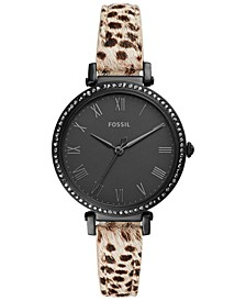 Women's Jacqueline Animal Print Leather Strap Watch 36mm