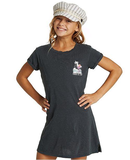 Billabong Big Girls Cotton Stoked All Day T-Shirt Dress