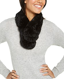 Rabbit Fur Pull Through Scarf