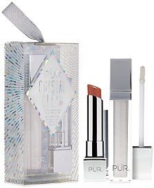 PÜR 2-Pc. Crystal Clear Lip Set Ornament - Limited Edition
