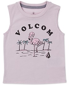 Volcom Toddler & Little Girls Graphic-Print Sleeveless T-Shirt