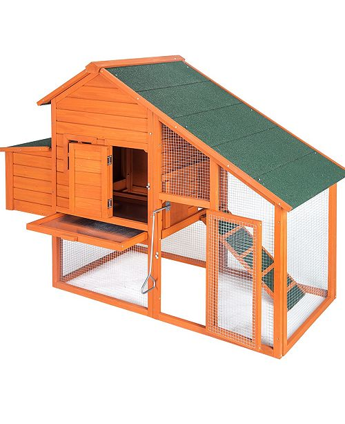 PurLove Pet Rabbit Hutch Wooden House Chicken Coop for Small Animals