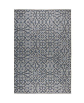 "Patio Country Danica Blue 5'2"" x 7'2"" Area Rug"