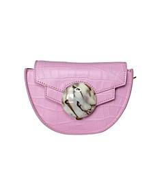 Mini Italian Leather Saddle Bag