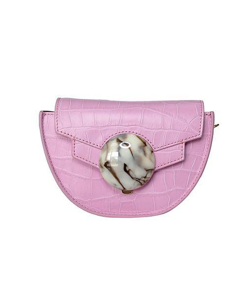 Milanblocks Mini Italian Leather Saddle Bag