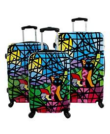 Glass 3-Piece Hardside Luggage Set