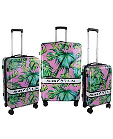 Paradise Printed 3-Pc. Hardside Luggage Set