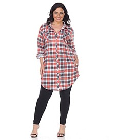 Plus Piper Stretchy Plaid Tunic
