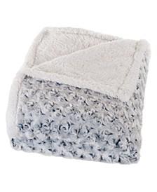 Home Plush Flower Fleece Sherpa Throw Blanket