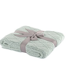 """Home Knit Diamond Patterned Throw, 50"""" X 60"""""""