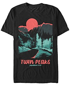 Twin Peaks Men's Tonal Color Pop Park Short Sleeve T-Shirt