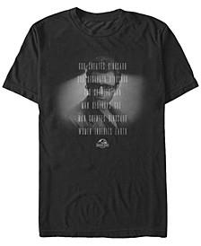 Men's Dr. Malcolm God Creates Dinosaurs Short Sleeve T-Shirt