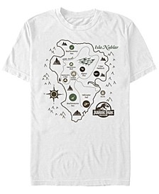 Men's Isla Nublar Park Map Short Sleeve T-Shirt